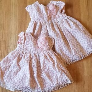 2 matching pink formal dresses
